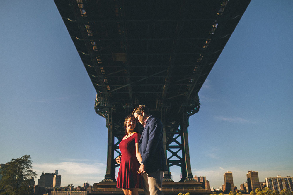 Manhattan Bridge Engagement Photography