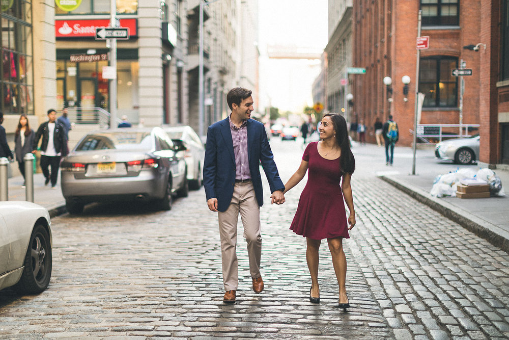 Cobblestone Street Engagement Brooklyn