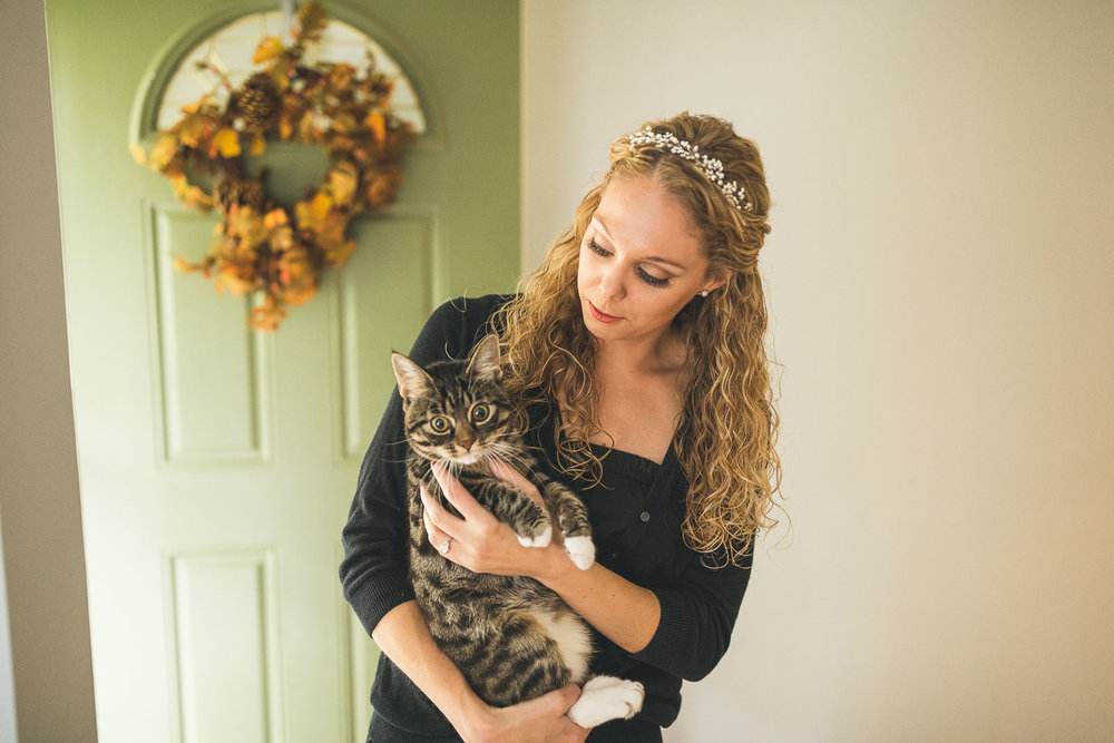 Bride and her cat