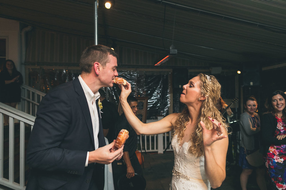 First Donut Bite Wedding