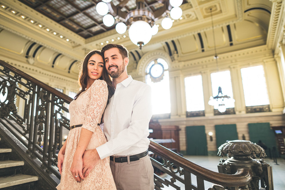 Hoboken Train Terminal Engagement Photo