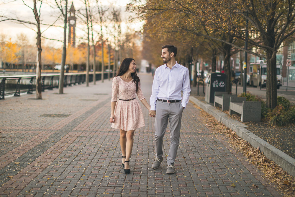 New Jersey Waterfront Engagement Photography