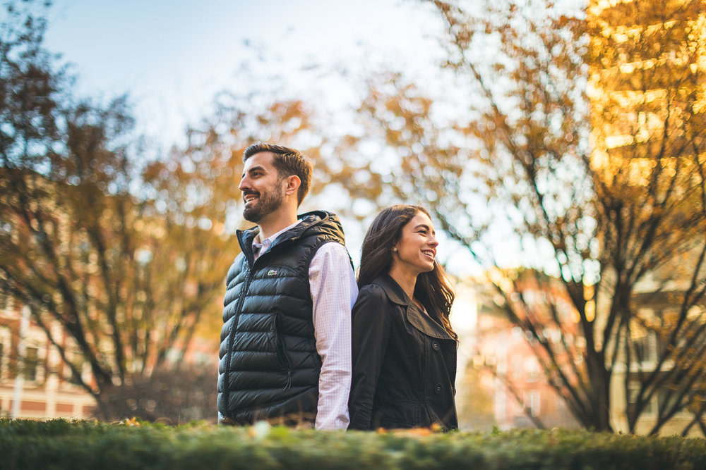 Autumn Hoboken Engagement Photography