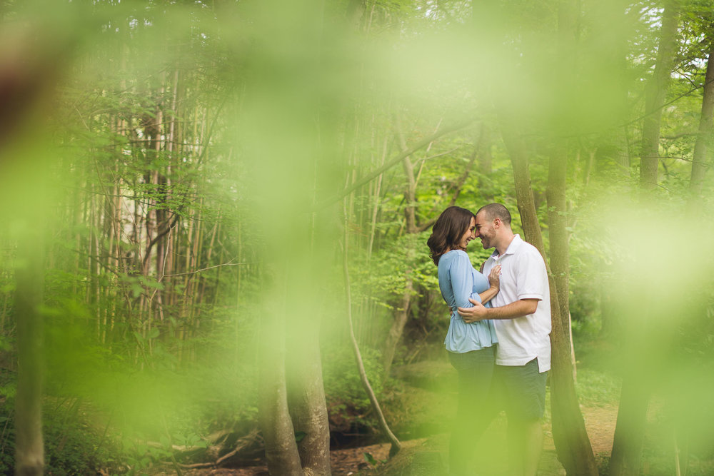 Woodland Engagement Photography