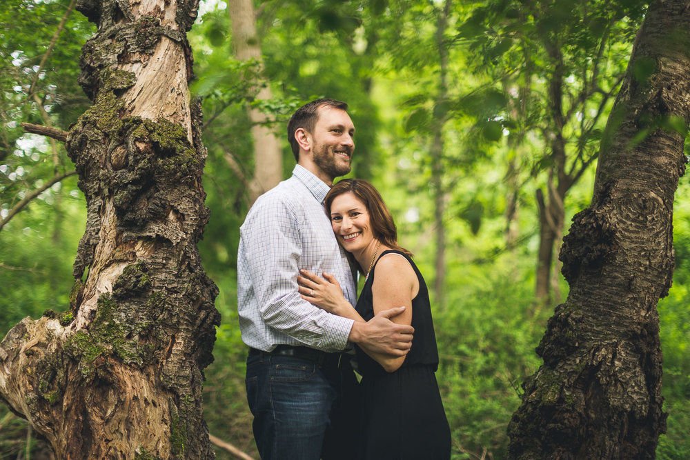 Engagement Cuddling in the Woods
