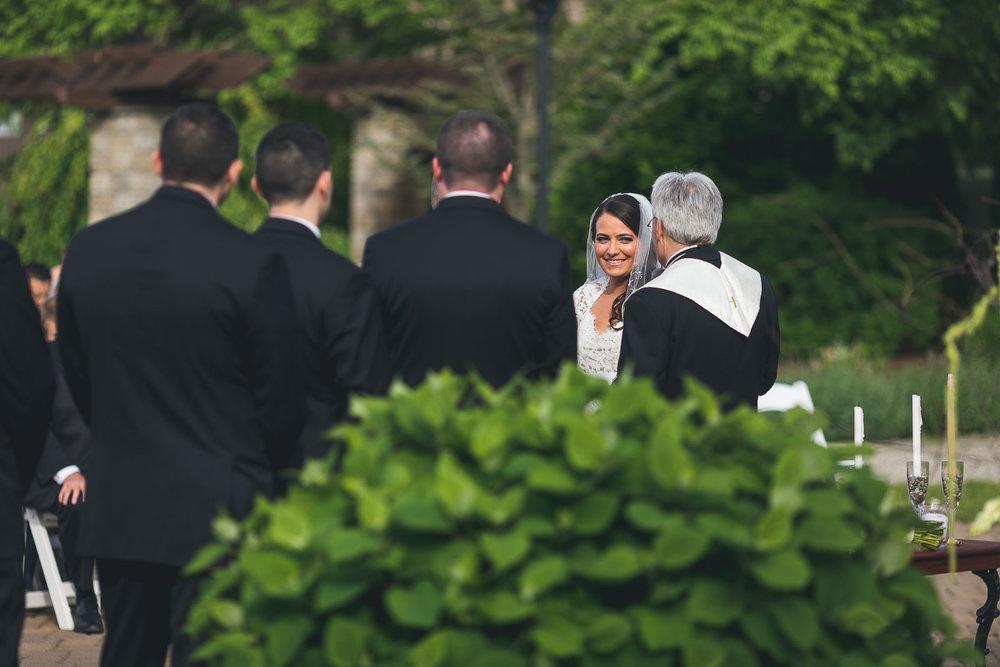 Bride during ceremony