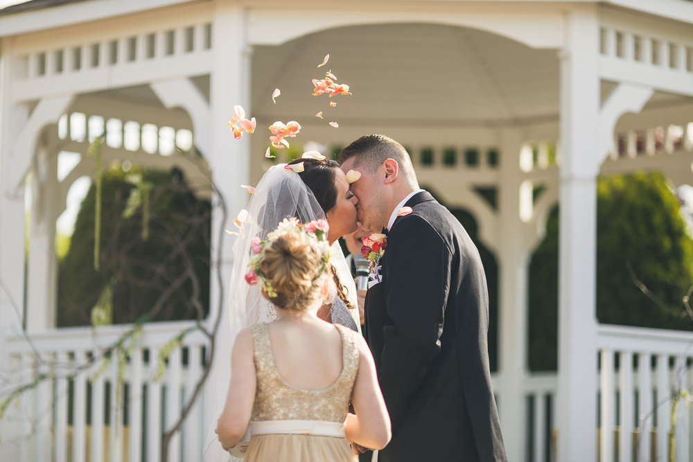 First Kiss at The Conservatory at the Sussex County Fairgrounds