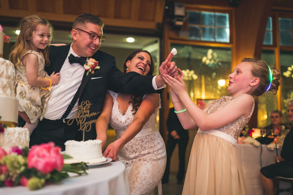 Fun Wedding Cake Cutting