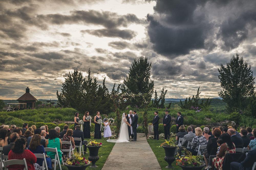 Dramatic Clouds Crystal Springs Resort Wedding