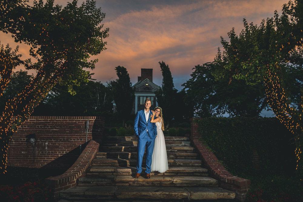 Hamilton Farm Golf Club Wedding Sunset Photo