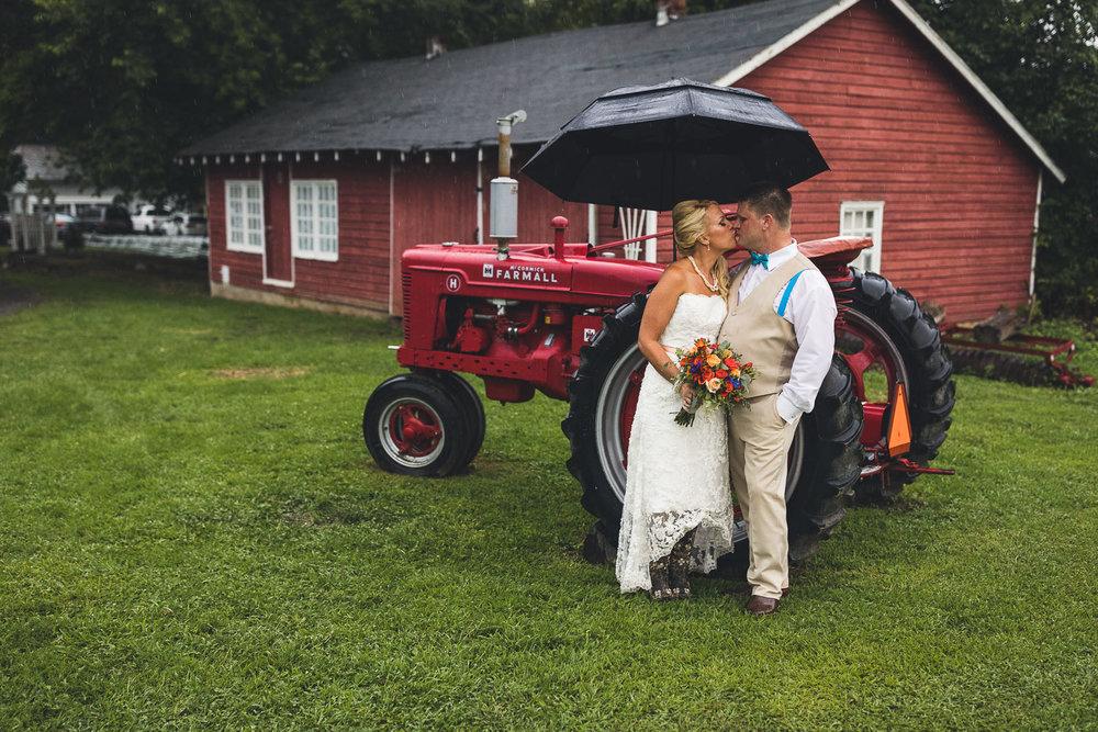 NJ Farm Wedding Tractor