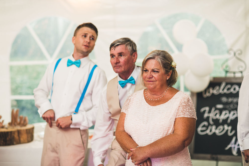 Mom chokes up at Son getting married