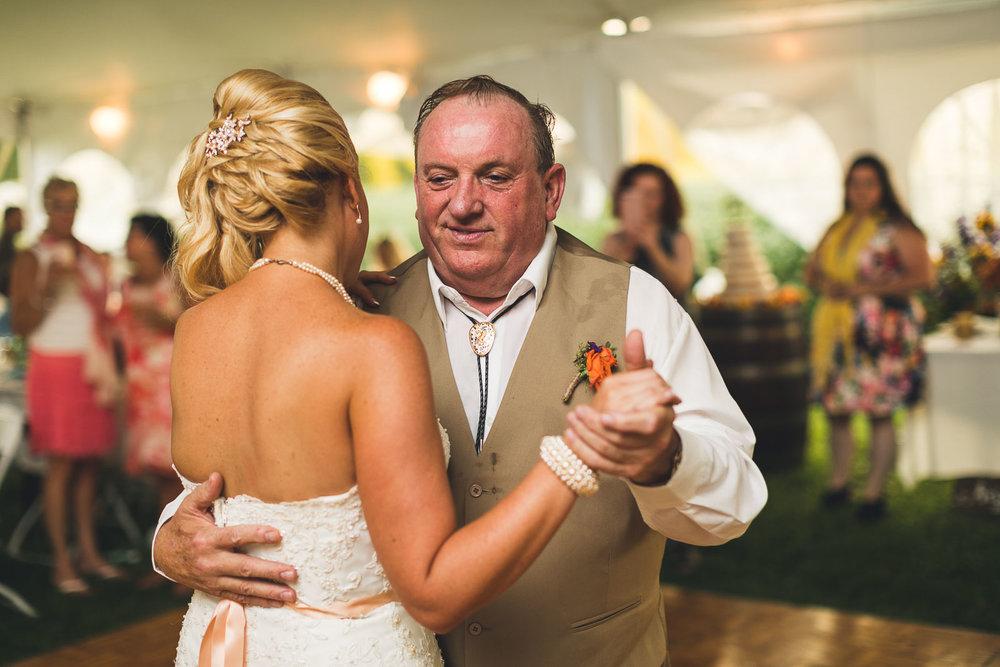 Farm Wedding Dance with Father