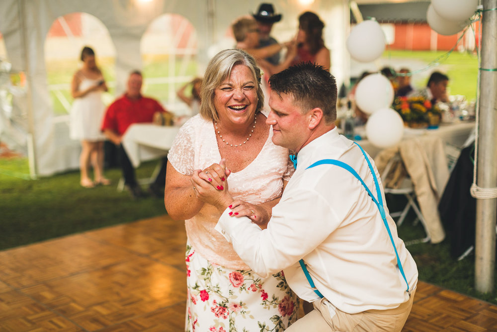 Farm Wedding Dance with Mother