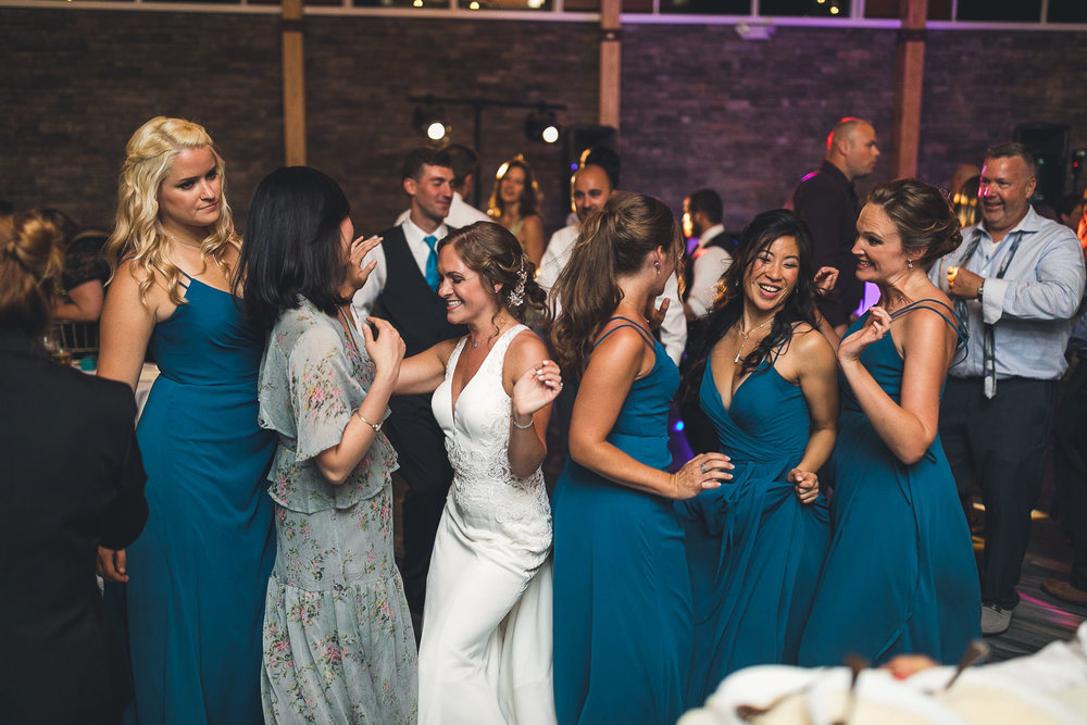 Bridal Party gets down on the dance floor