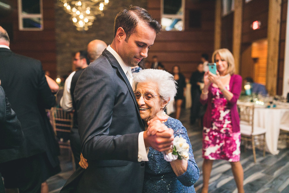 Groom dances with grandmother