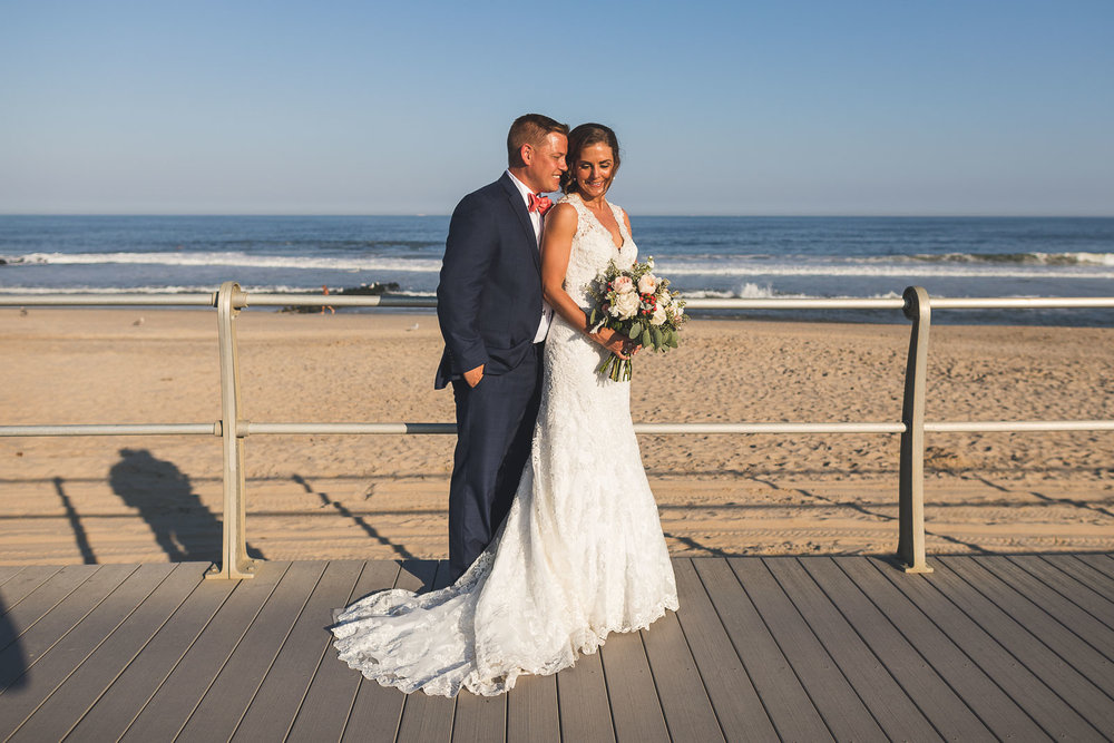 Spring Lake Beach Wedding Portraits