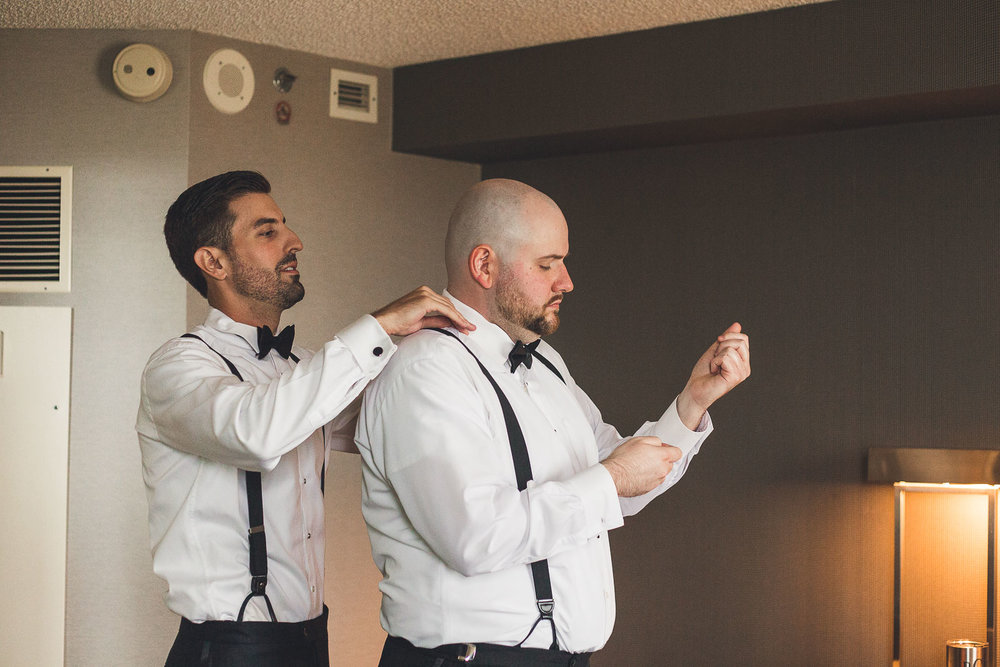 Groom helps best man