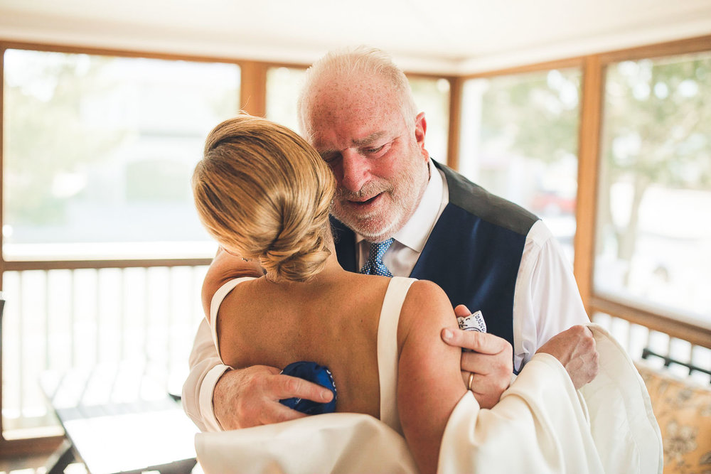 Father gets emotional with bride