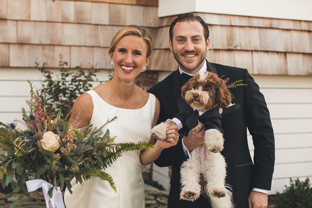 Wedding Portrait with puppy