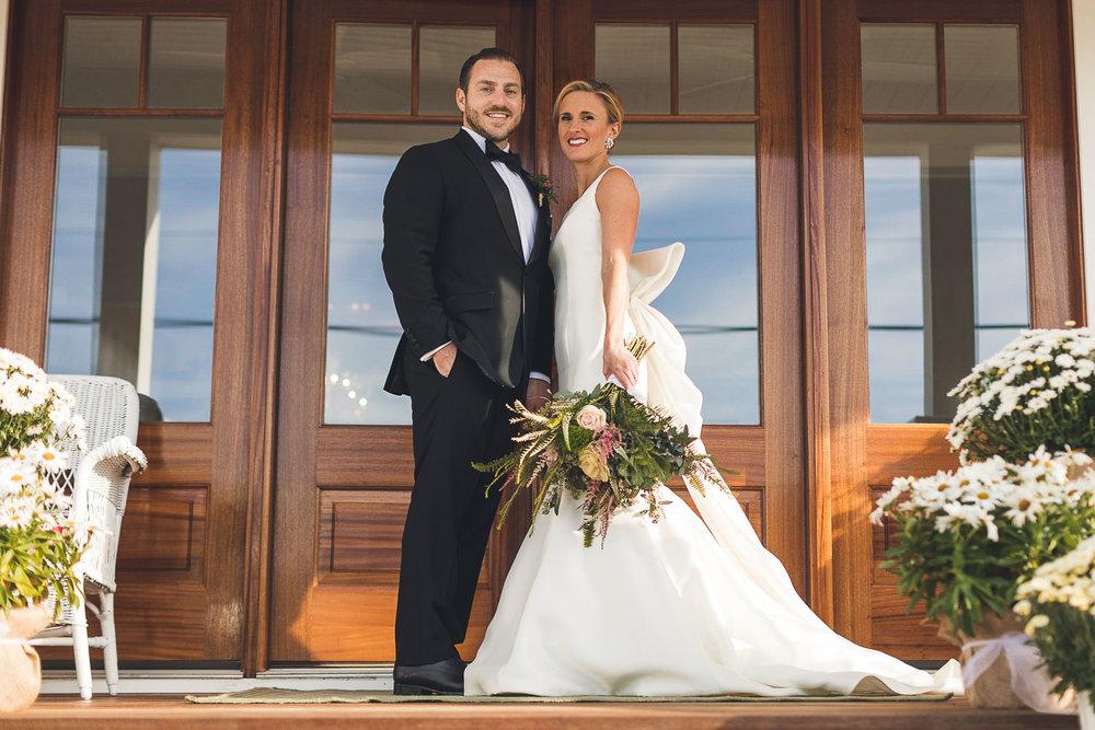 Beach House Wedding Portrait