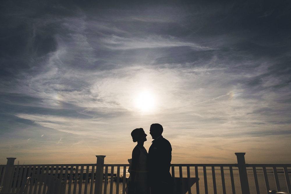 LBI Sunset Wedding Portrait