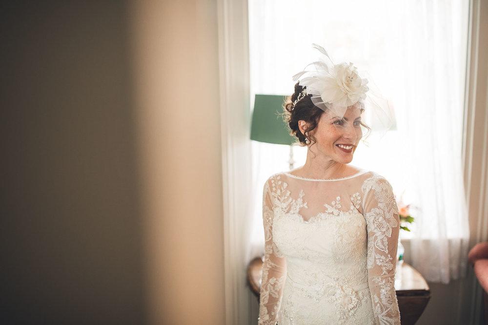 Bride smiles wedding photography