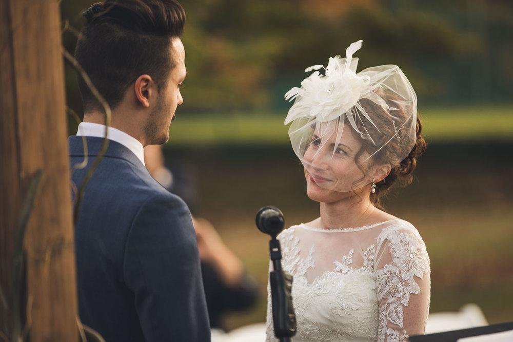 Bride gives vows Orange Lawn Tennis Club