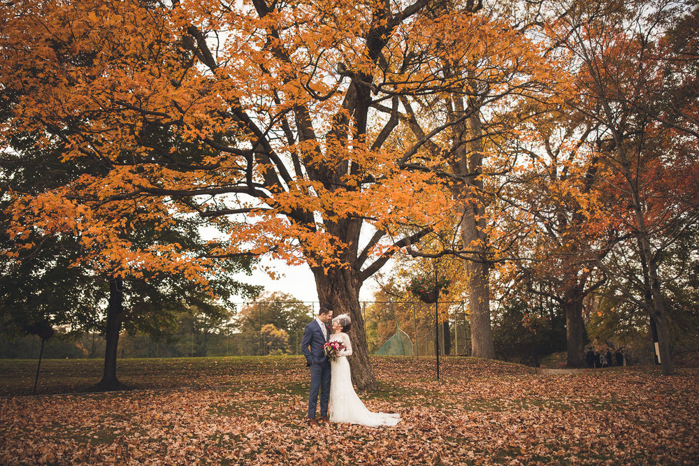 Fall Wedding Orange Lawn Tennis Club