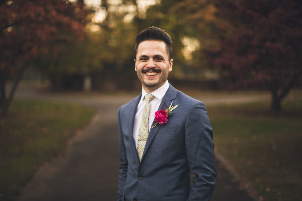 Groom Wedding Portrait New Jersey