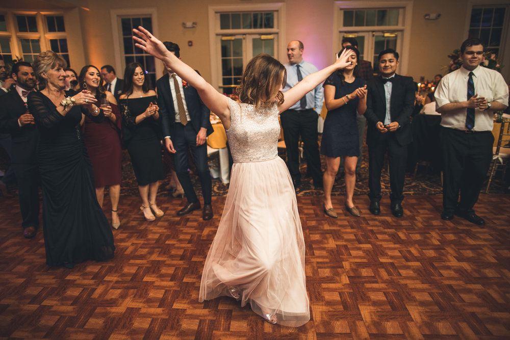 Orange Lawn Tennis Club Wedding Dancing
