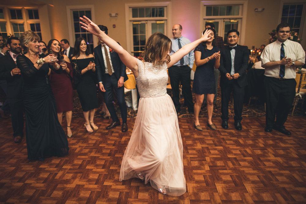 Orange Lawn Tennis Club Wedding Dancing