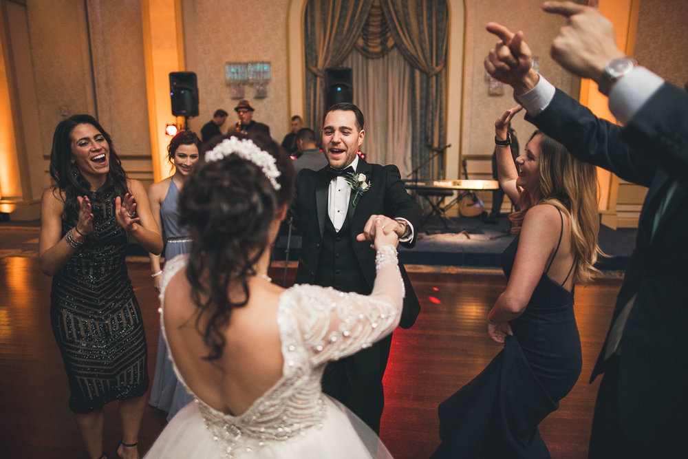 Brother dances with Bride Grove Wedding