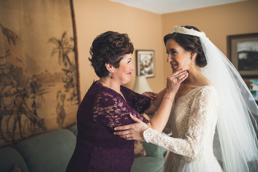 Mom has moment with Bride