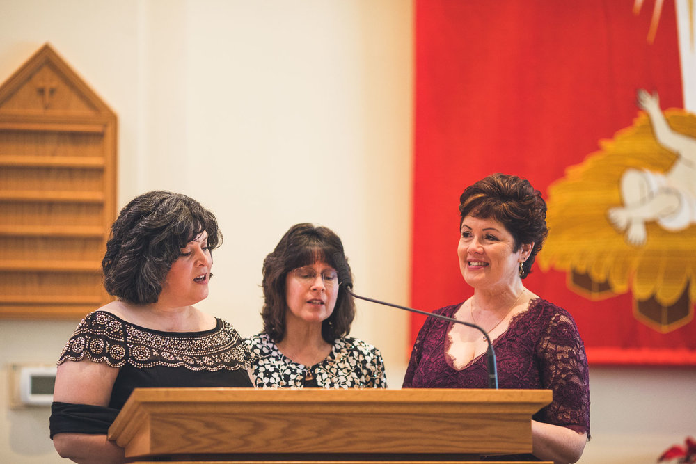 Mom sings during Wedding Ceremony