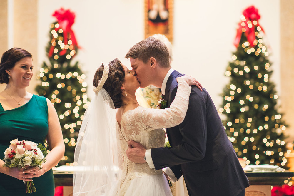 First Kiss Church of St. David the King Wedding Ceremony