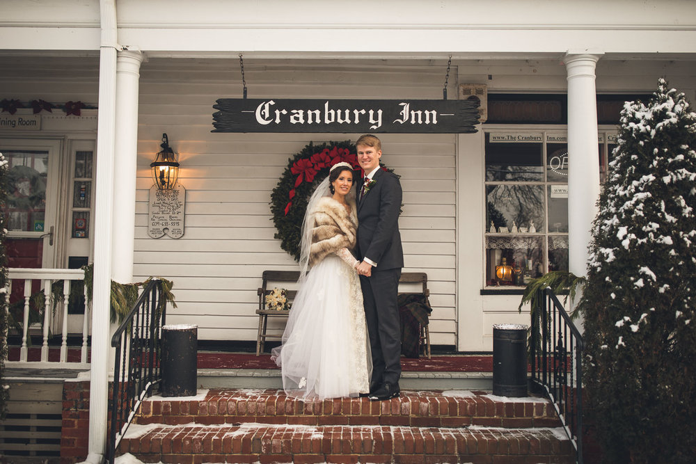 Cranbury Inn Wedding Winter