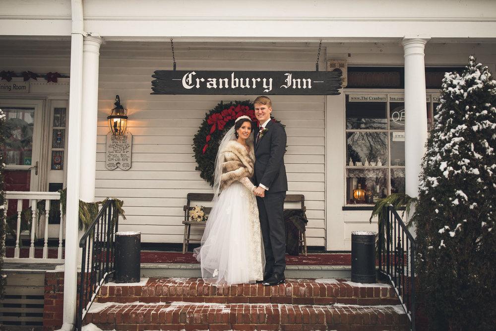 Cranbury Inn Wedding Winter