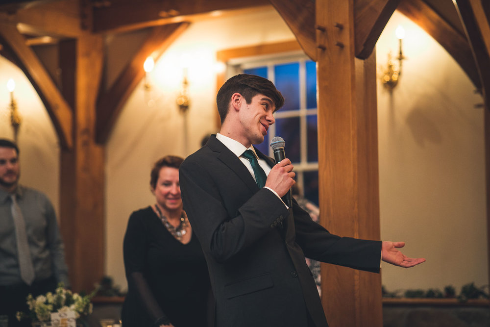 Brother gives speech