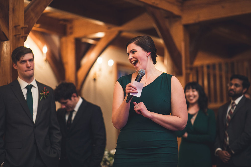 Maid of Honor gives Speech