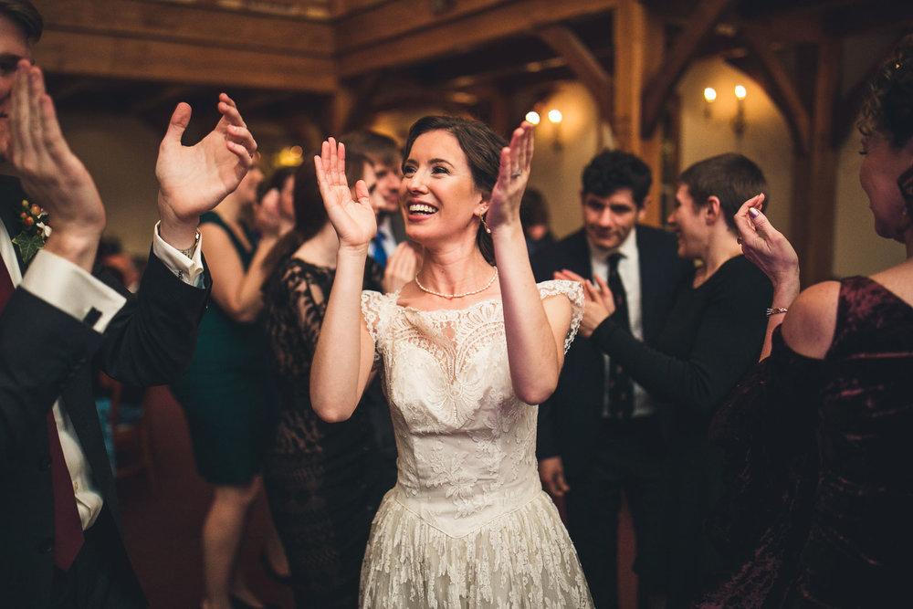 Bride claps Cranbury Inn Wedding