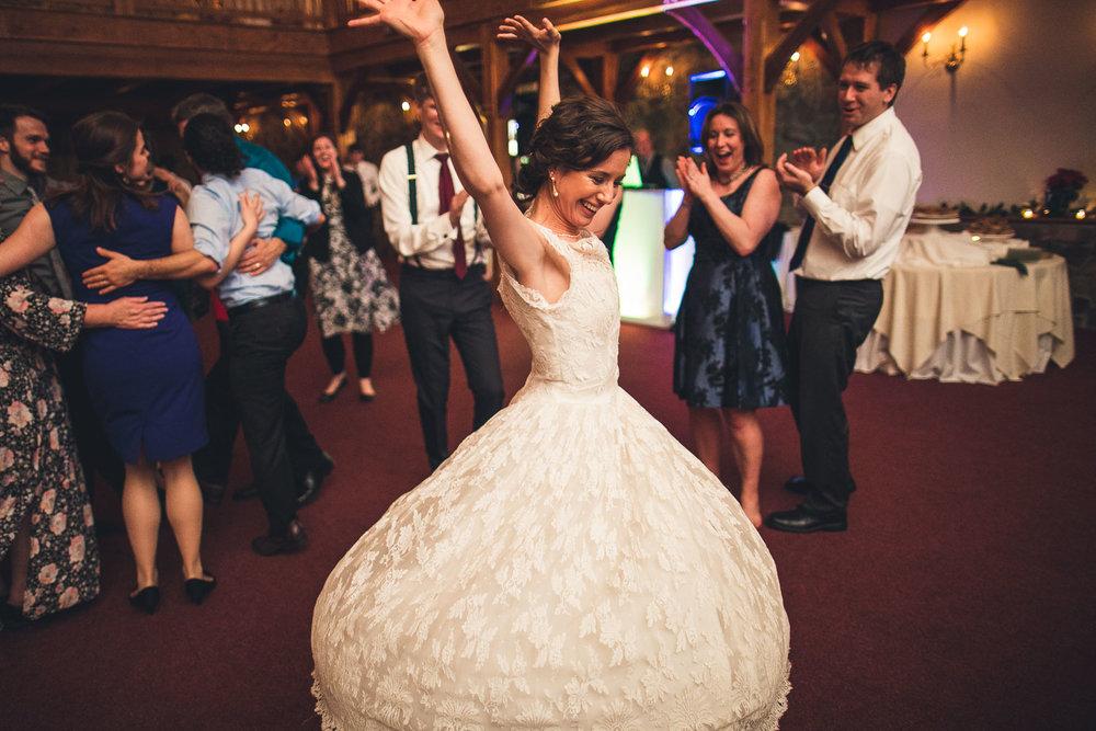Bride Twirls Cranbury Inn Wedding