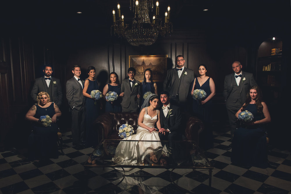 Creative Wedding Party Photography Park Chateau