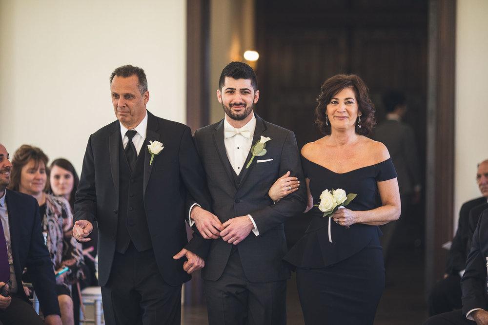Groom and Parents Wedding Ceremony