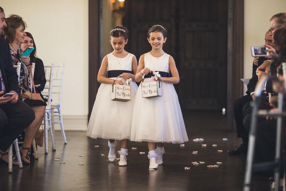 Flower Girls Wedding Ceremony