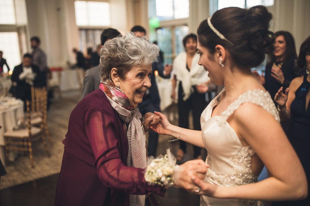 Bride dances with Grandmother