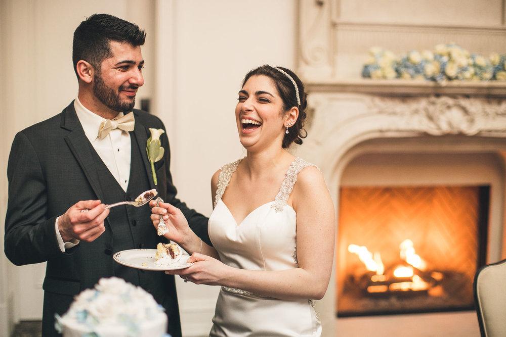 Couple enjoys some Cake