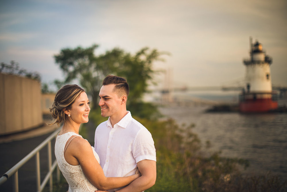 Tarrytown Lighthouse Engagement Photo