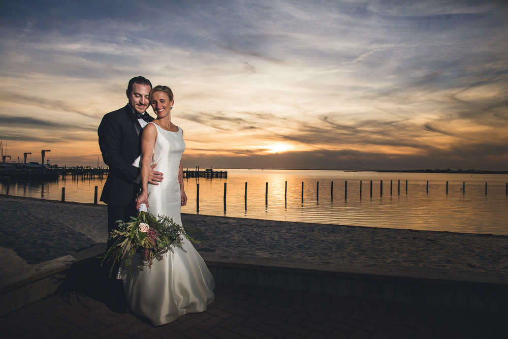 Sunset Wedding Portrait Long Beach Island