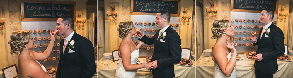Serving Each Other Donuts at a Wedding